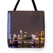 Westminster From Waterloo Bridge London Tote Bag