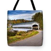 Westport Covered Bridge Tote Bag by Jack R Perry
