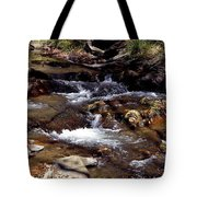 Rocks And Water In Autumn Tote Bag