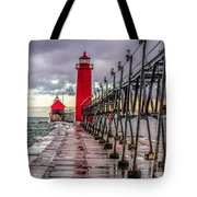 Wet At Grand Haven Tote Bag
