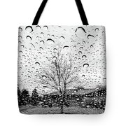 Wet Car Window B Tote Bag