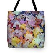 Wet Fall Leaves Tote Bag