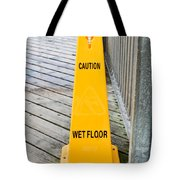 Wet Floor Warning Tote Bag