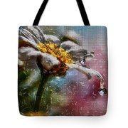 Wet Flower Tote Bag