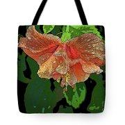 Wet Hibiscus Tote Bag