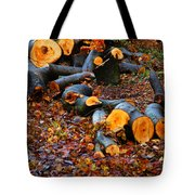 Wet Logs Tote Bag