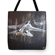Wet Night Landing Tote Bag