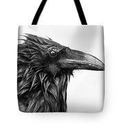Wet Raven Tote Bag