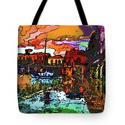 Wet Reflections Tote Bag
