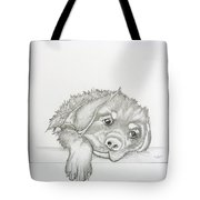 Wet Rottie Pup Tote Bag