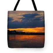 Wet Sand And Clouds Tote Bag