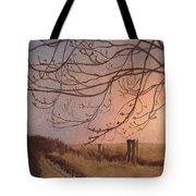 Wet Spring Soft Sunset  Tote Bag