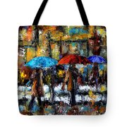 Wet Winter Day Tote Bag