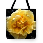 Wet Yellow Rose II Tote Bag