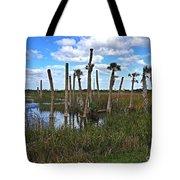Wetland Palms Tote Bag