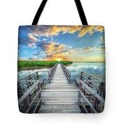 Wetland Marsh Sunrise Treasure Coast Florida Boardwalk A1 Tote Bag