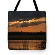 Wetland Sunset Tote Bag