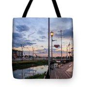 Embankment In Weyburn Tote Bag