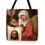 Weyden Crucifixion Triptych  Right Wing  Tote Bag