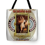 W.f.bemis And Co - Tivoli Garden Cigar Store - Vintage Advertising Poster Tote Bag