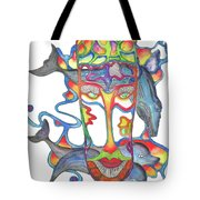 Whale Face Tote Bag