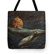 Whale Of The Universe Tote Bag