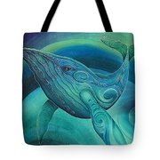 Whale Tohora By Reina Cottier Tote Bag
