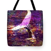 Whale Tail Ocean Animal Sea Water  Tote Bag