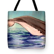 Whale Tail    Pastel   Sold Tote Bag