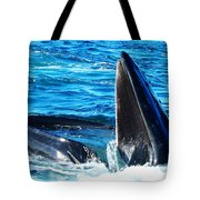 Whale's Opening Mouth Tote Bag
