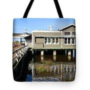 Wharf At Jekyll Island Tote Bag