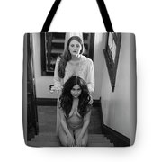 What Awaits At The Bottom Of The Stairwell Tote Bag