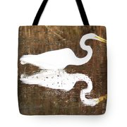 What The Egret Caught Tote Bag
