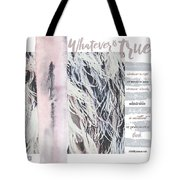 Whatever Pink Feathers Tote Bag