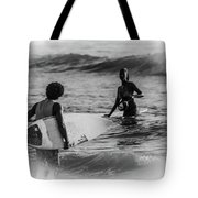 What's Up Surfer Girl Tote Bag