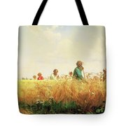 Wheat Field In The Summer Tote Bag by Isabella Howard