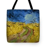 Wheat Field With Crows At Wheat Fields Van Gogh Series, By Vincent Van Gogh Tote Bag