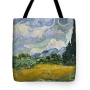 Wheat Field With Cypresses Tote Bag