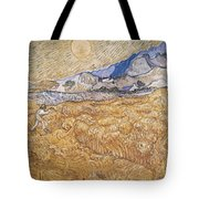 Wheat Field With Reaper Harvest In Provence Tote Bag