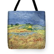 Wheat Field With Stormy Sky Tote Bag