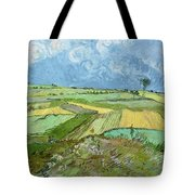 Wheat Fields After The Rain, The Plain Of Auvers Tote Bag