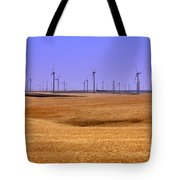 Wheat Fields And Wind Turbines Tote Bag