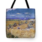 Wheat Fields With Reaper, Auvers Tote Bag