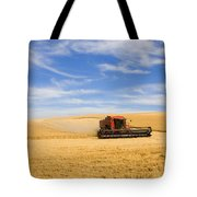 Wheat Harvest Tote Bag by Mike  Dawson