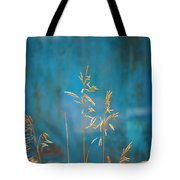 Wheat On Blue 1 Tote Bag