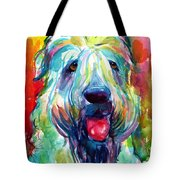 Wheaten Terrier Dog Portrait Tote Bag
