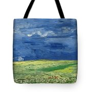 Wheatfield Under Thunderclouds At Wheat Fields Van Gogh Series, By Vincent Van Gogh Tote Bag
