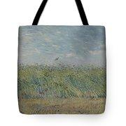 Wheatfield With Partridge Paris, June - July 1887 Vincent Van Gogh 1853 - 1890 Tote Bag