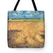 Wheatfield With Sheaves Tote Bag