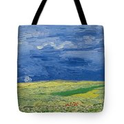 Wheatfields Under Thunderclouds Tote Bag